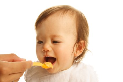 baby eating homemade food