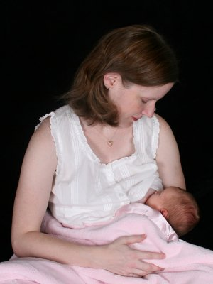 mommy breastfeeding newborn